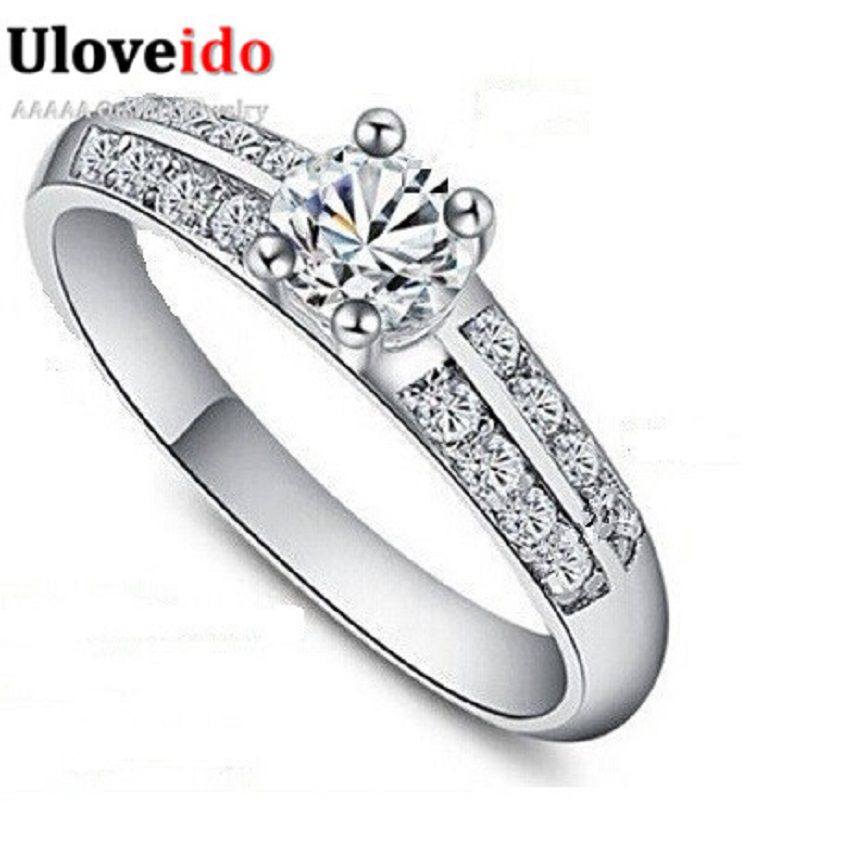 Find More Rings Information about 50% off White Wedding Rings for Women Sterling Silver Jewelry Crystal Engagement Ring Vintage Jewellery Bijoux Uloveido J511,High Quality ring oil,China ring fantasy Suppliers, Cheap ring men from Uloveido Official Store on Aliexpress.com