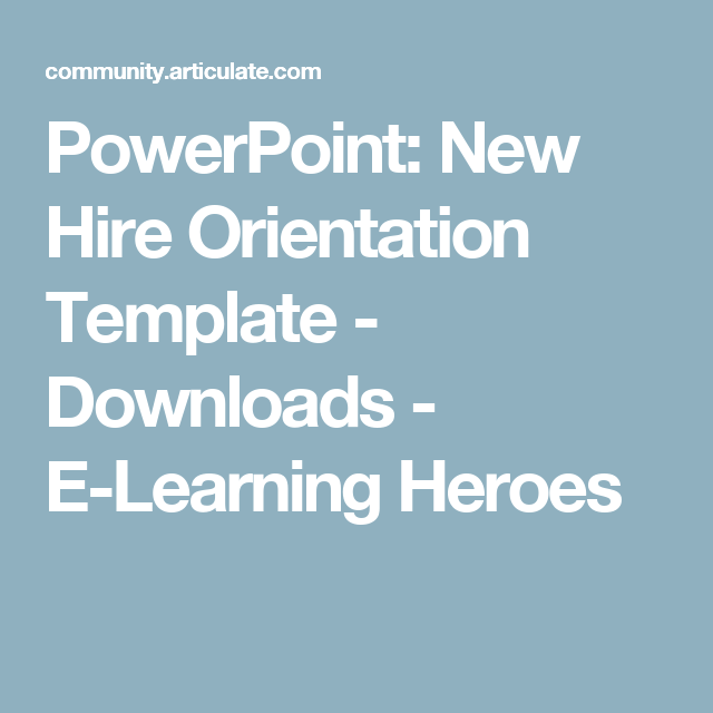 powerpoint new hire orientation template downloads e learning