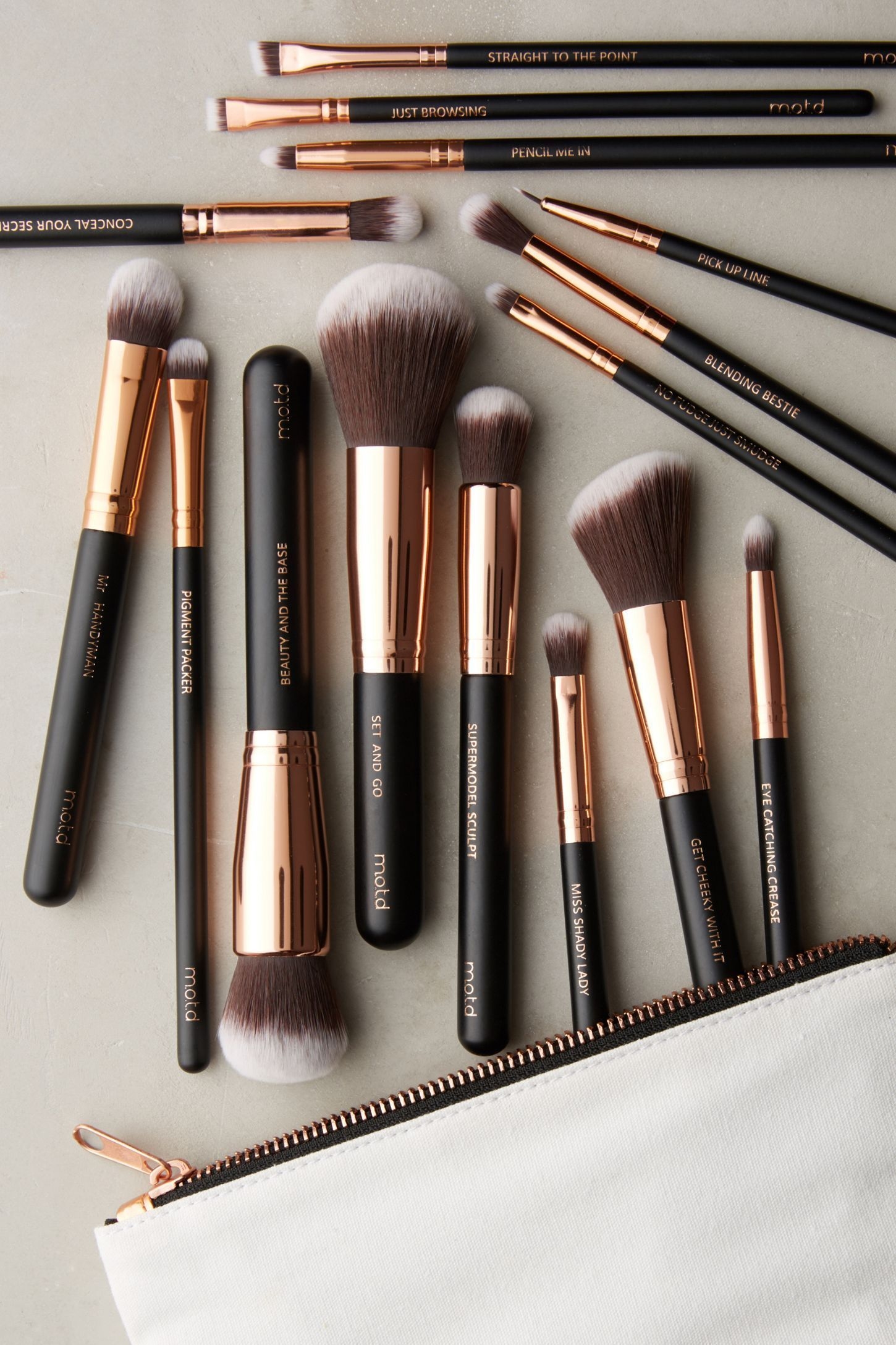 Slide View: 1: M.O.T.D. Lux Vegan Makeup Brush Set