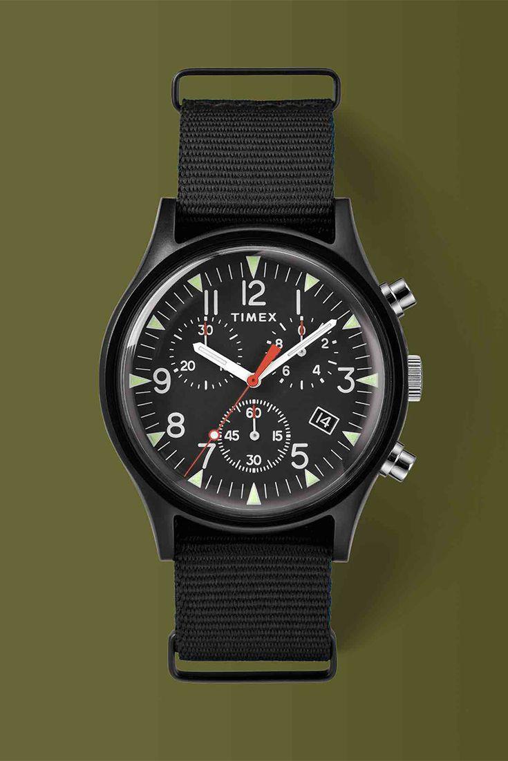 d66395faf5ab MK1 Aluminum Chronograph 42mm Fabric Strap Watch Relojes Timex