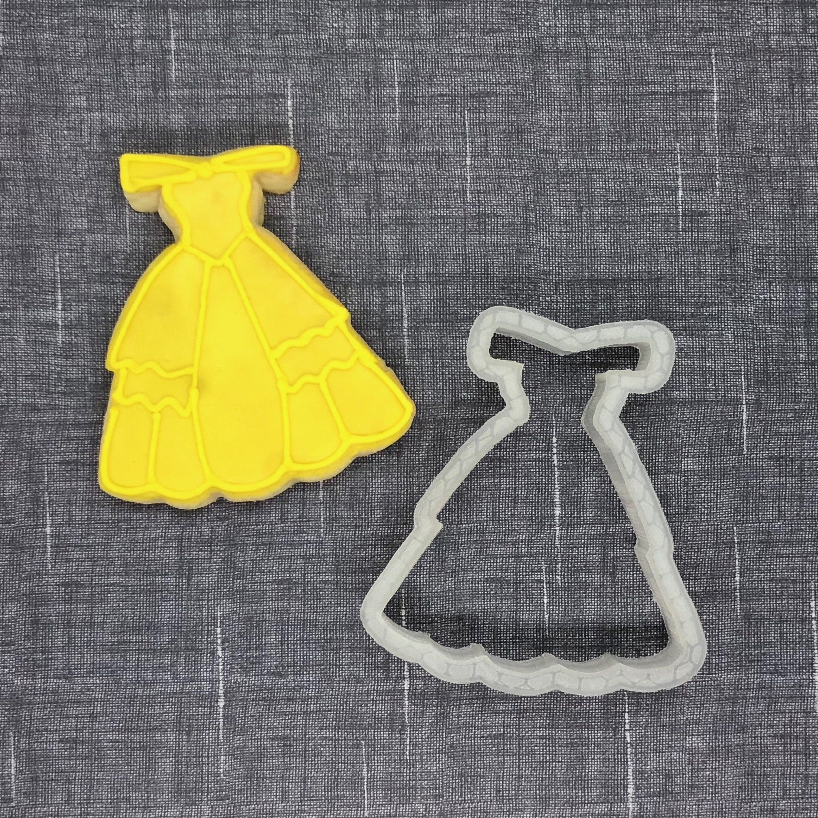Belle dress beauty and the beast cookie cutter disney inspired d