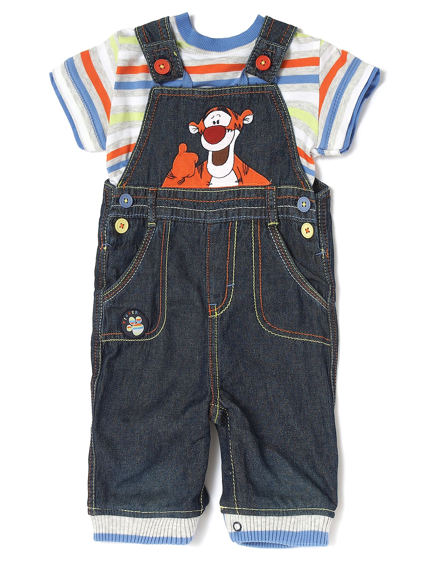 Disney Baby Boys Tigger Overall//Creeper Set Blue 18M