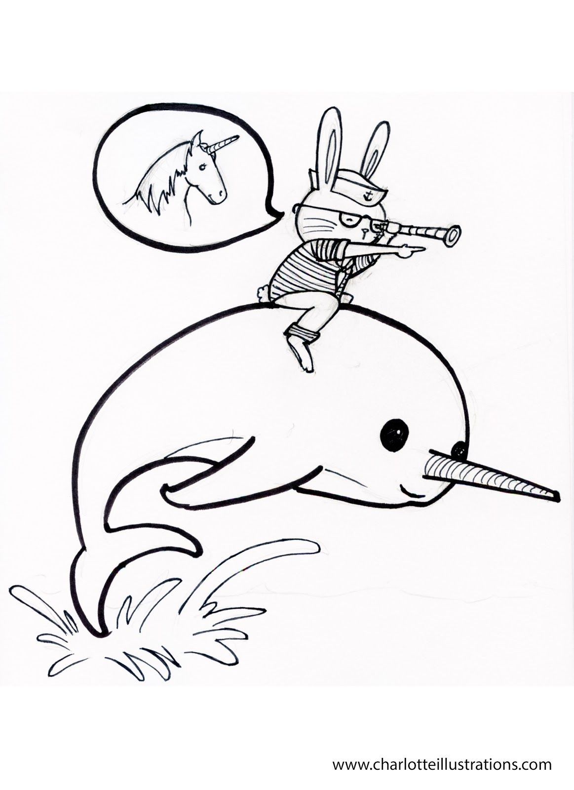 Narwhal Coloring Pages Coloring pages, Printable
