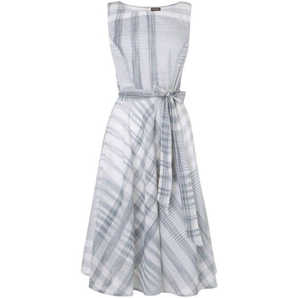 Phase Eight Renee Check Fit And Flare Dress, Charcoal