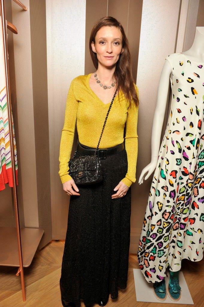 Audrey Marnay lors du cocktail organisé pour l'ouverture de la nouvelle boutique Missoni à Paris le 27 janvier 2015.