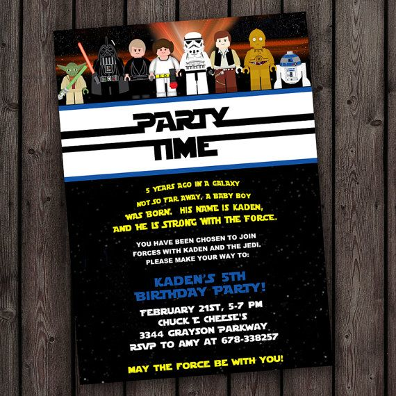 Star Wars Invitation Star Wars Birthday Invitations Fast Ship