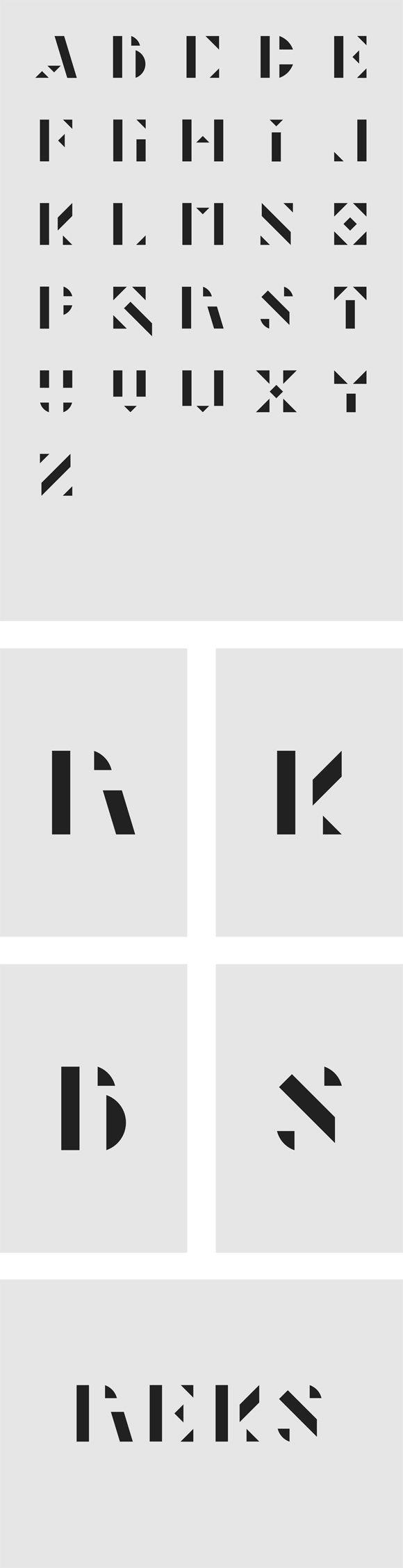Typographie Forme Gomtrique  Typographie    Fonts