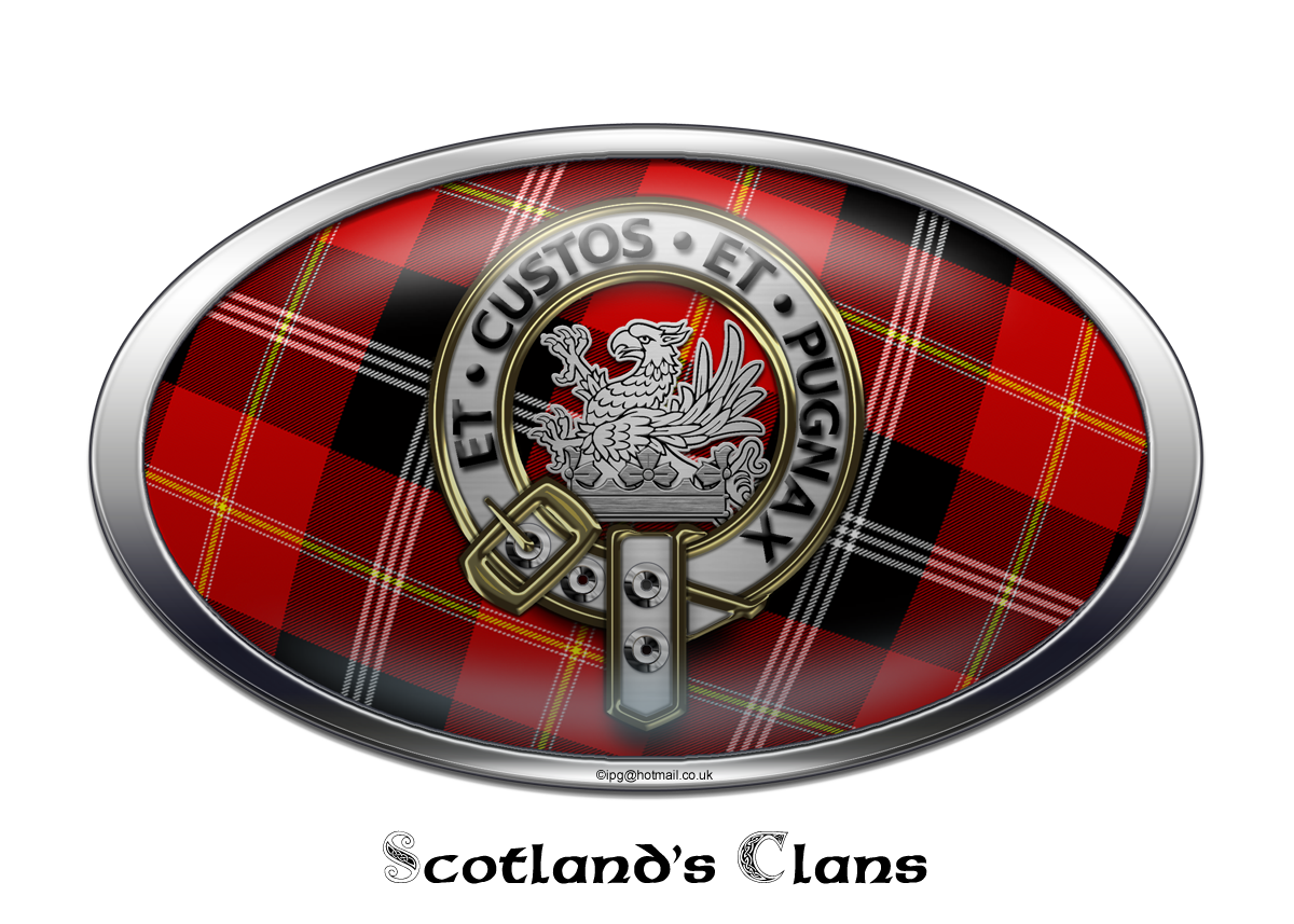 Home Clan Crest Badge Skye Decanter