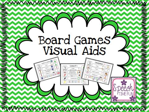 Speech Time Fun: Board Games Visual Aids! (PLUS GIVEAWAY!)