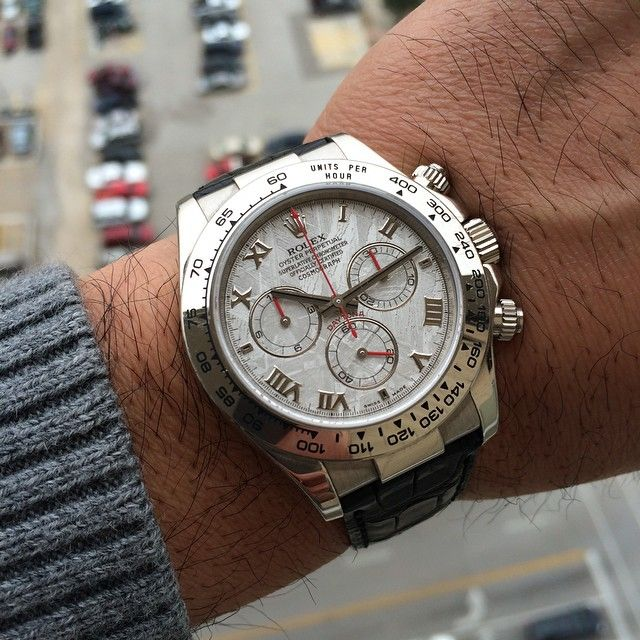 4f92d2437db Rolex Daytona 116519 in white gold on a black leather strap