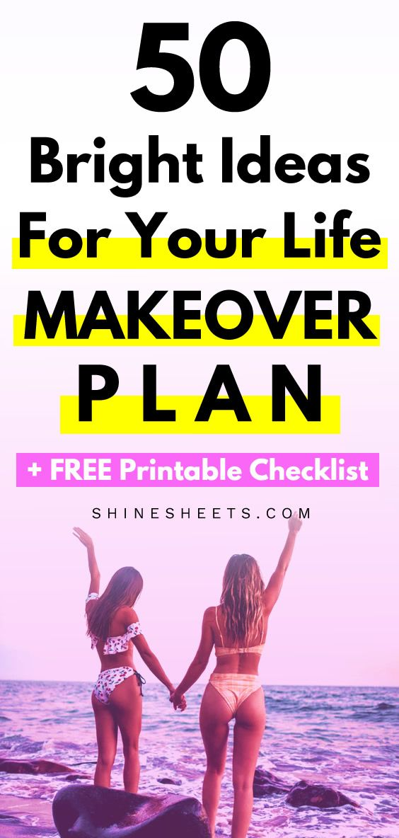 50 Bright Ideas For Your Life Makeover Plan + FREE Printable Checklist | ShineSheets #50freeprintables