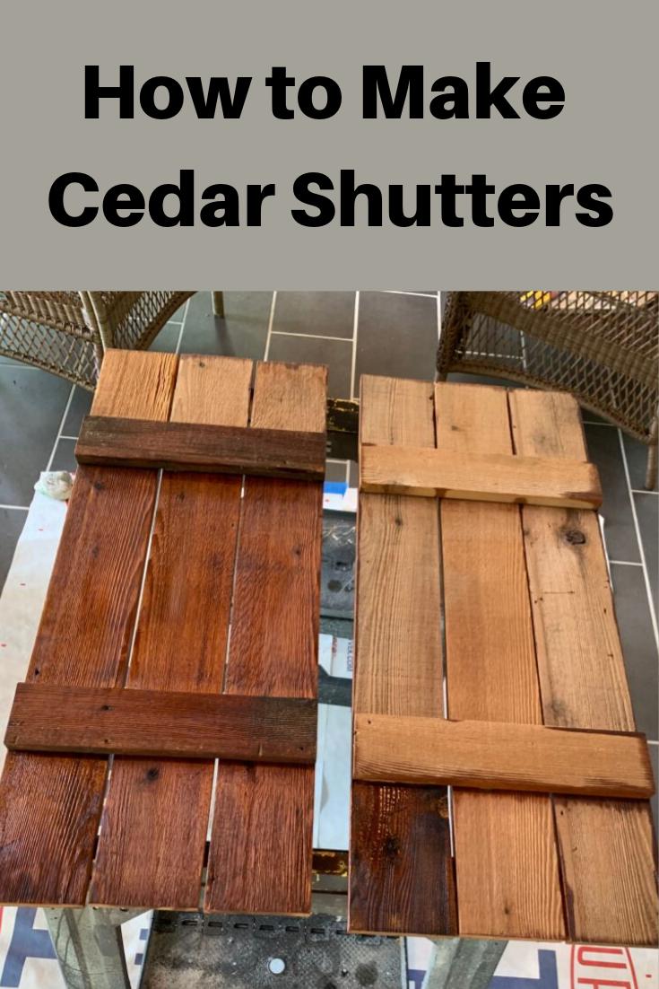 How To Make Cedar Shutters Diy Shutters Cedar Shutters Home Exterior Makeover