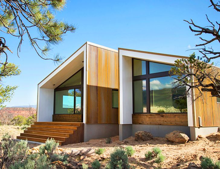 Corten desert home overlooks some of the world's most