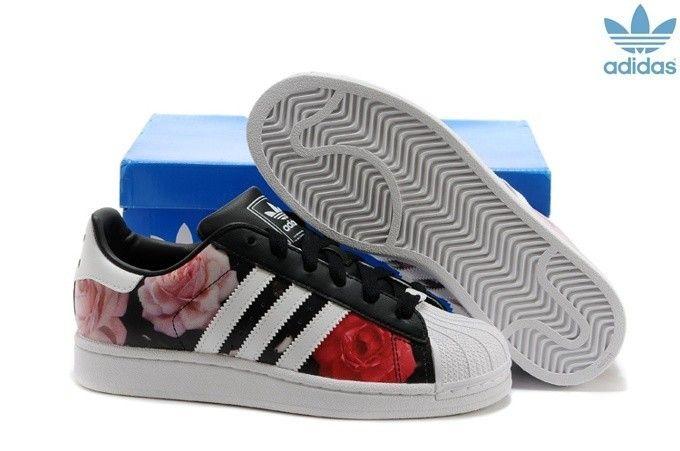 Femme Adidas Originals Superstar blanc/rouge