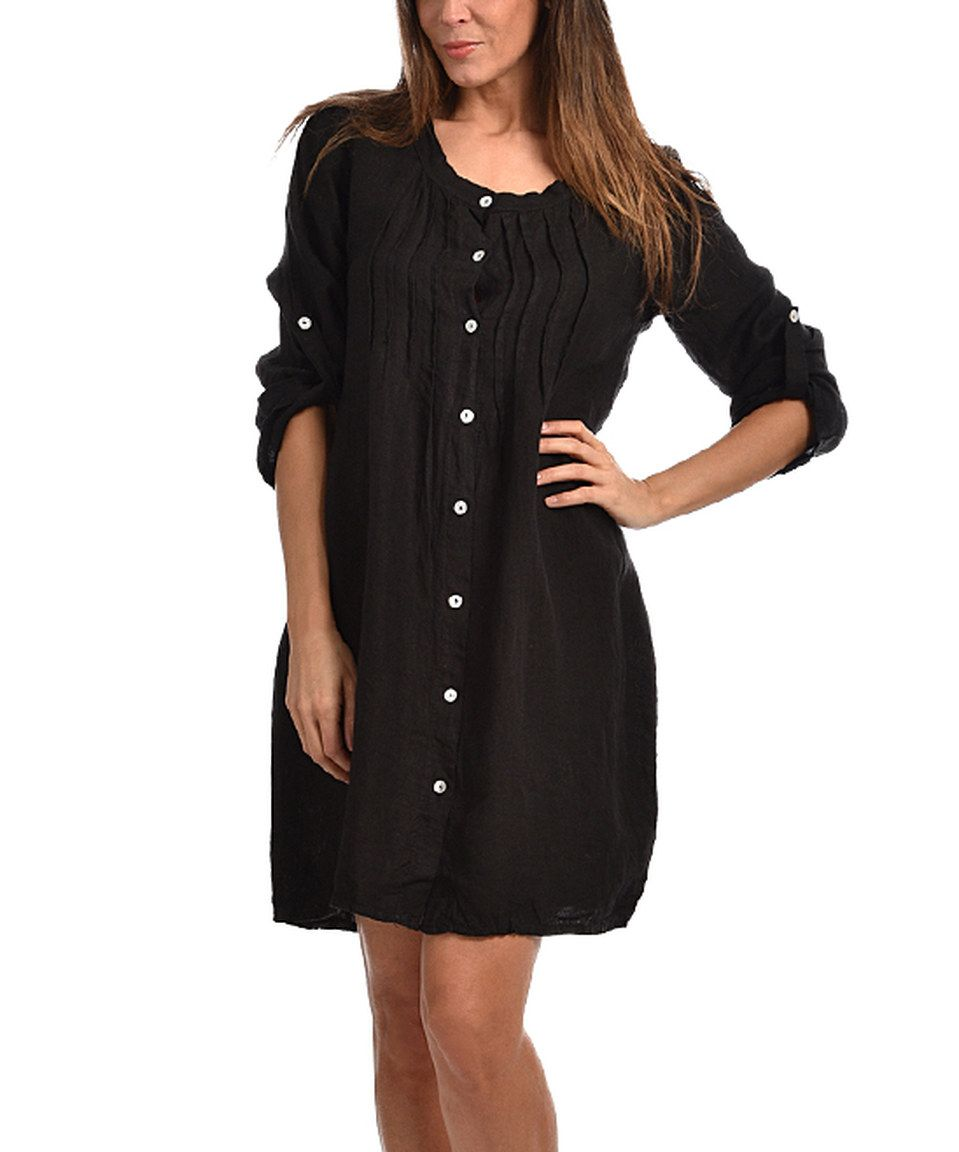 Elegant Another Great Find On #zulily! Couleur Lin Black Carmen Linen Button Up  Dress   Plus Too By Couleur Lin #zulilyfinds