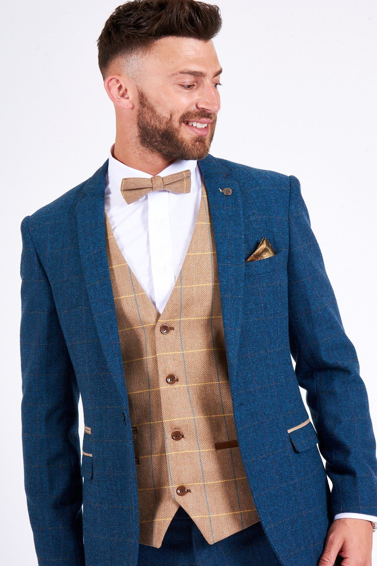 DION - Tweed Suit With DX7 Oak Waistcoat - Marc Darcy  473464816