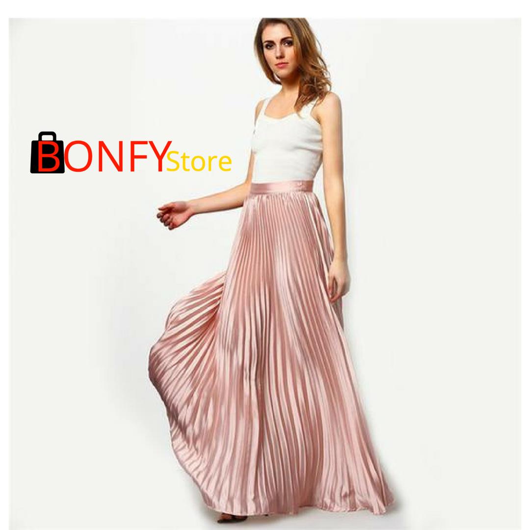 Falda plisada maxi | Coleccion MUJER | Pinterest | Plisado maxi ...