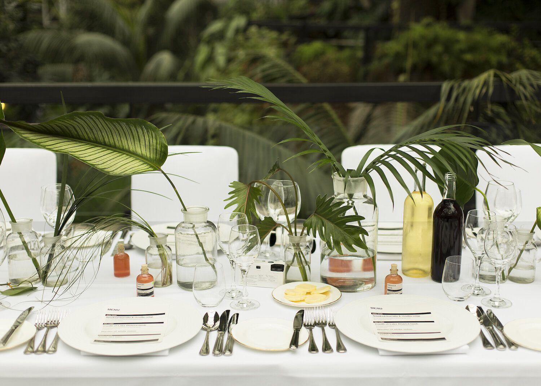 Botanical Wedding Theme. Long table centrepieces. Barbican ...