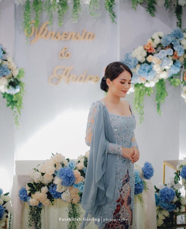 Dekorasi Pernikahan Warna Biru Muda Pink Muda