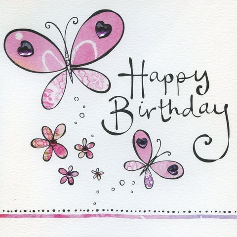 feminine birthday greetings Google Search – Butterfly Birthday Card