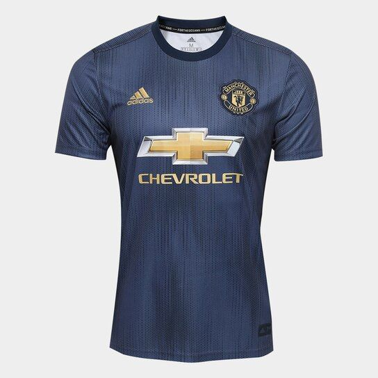 ae70d4d602 Camisa Manchester United Third 2018 s/n° - Torcedor Adidas Masculina - Azul