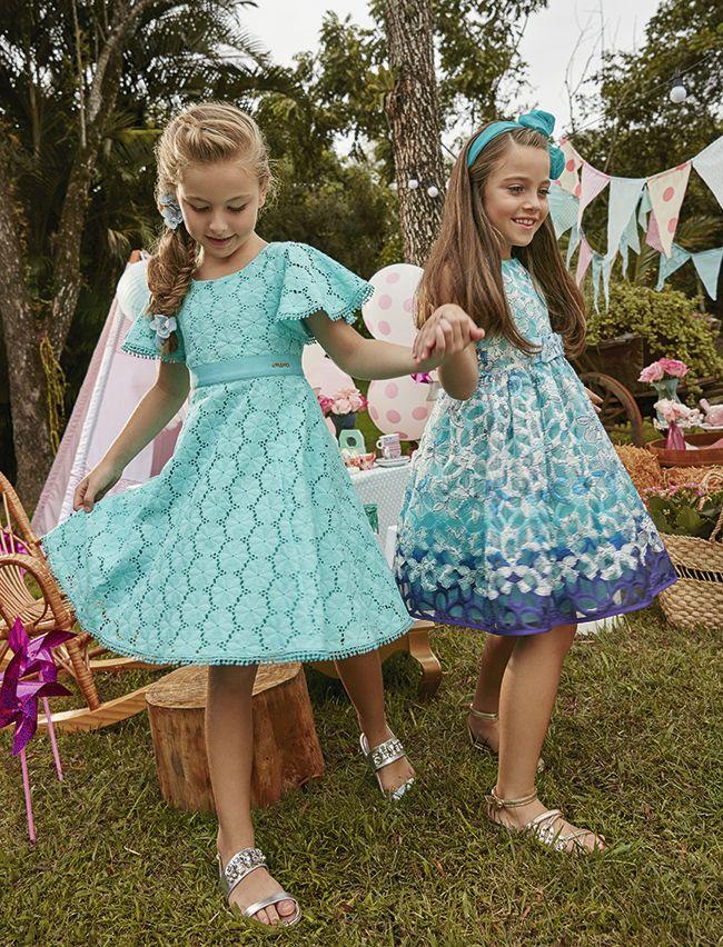 Vestidos primavera verao 2018 infantil