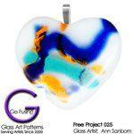 Color Crazed Heart Pendant