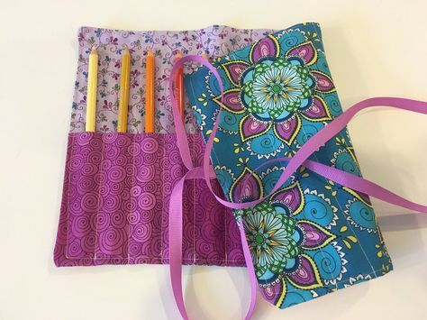 How to Sew a Roll-Up Case for Crochet Hooks, Coloring Pencils or Makeup Brushes — KRISTIN OMDAHL