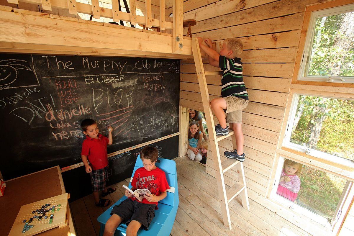 Creative environment casa del arbol y casas for Casa legno bambini