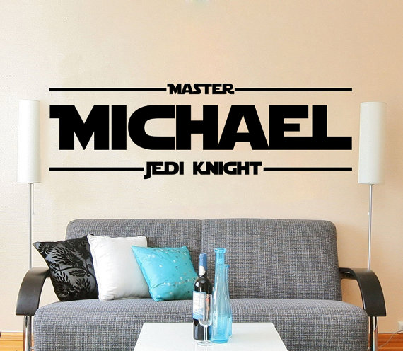 Star Wars Name Decal Quote Master Jedi Knight Vinyl Wall Decals - Custom vinyl decal quotes