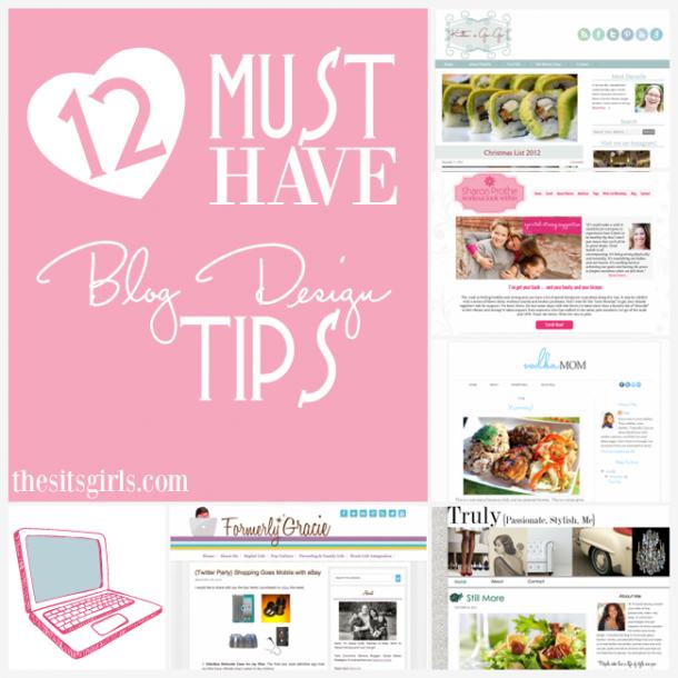 top 12 blog design tips