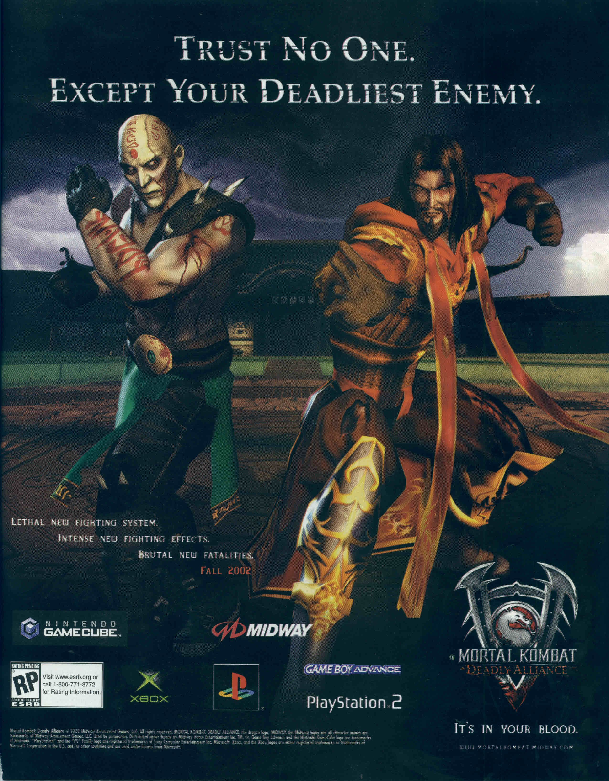 Mortal Kombat: Deadly Alliance | Computer Ads | Retro video