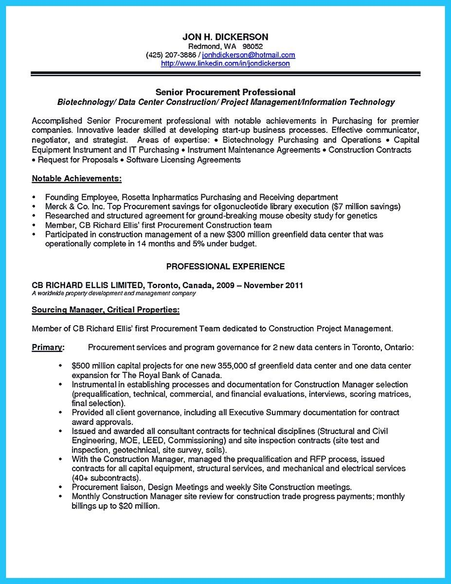 Procurement Resume Objective Awesome Sophisticated Job For This Unbeatable Biotech Resume