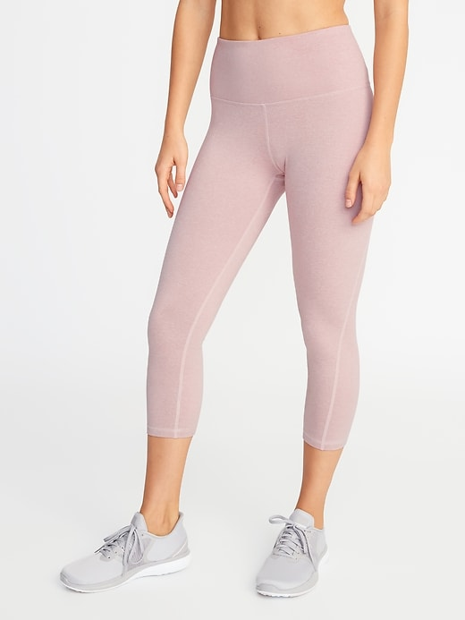 f7f157912ede Old Navy Women's High-Rise Elevate Soft-Brushed Compression Crops Abalone  Pink Size XXL