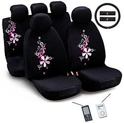 Montage Flower 12 Piece Universal Fit Seat Cover Set Airbag Friendly 6899