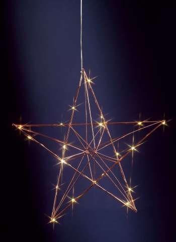 Weihnachtsbeleuchtung Aussen Stern Preise.Drahtstern Mit Led S 38 10 Cm ø T Kupferfarben