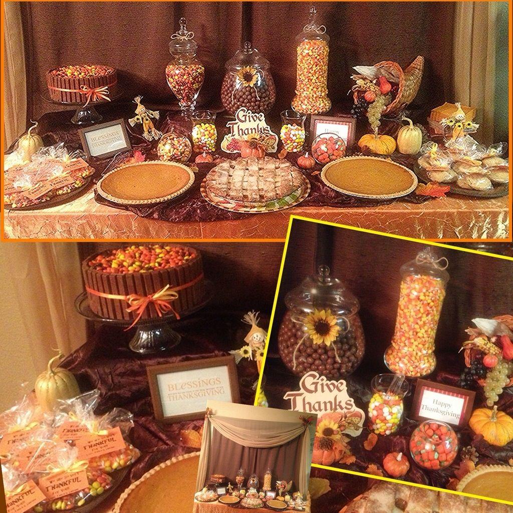 Thanksgiving Candy Buffet Table #kitkatcake
