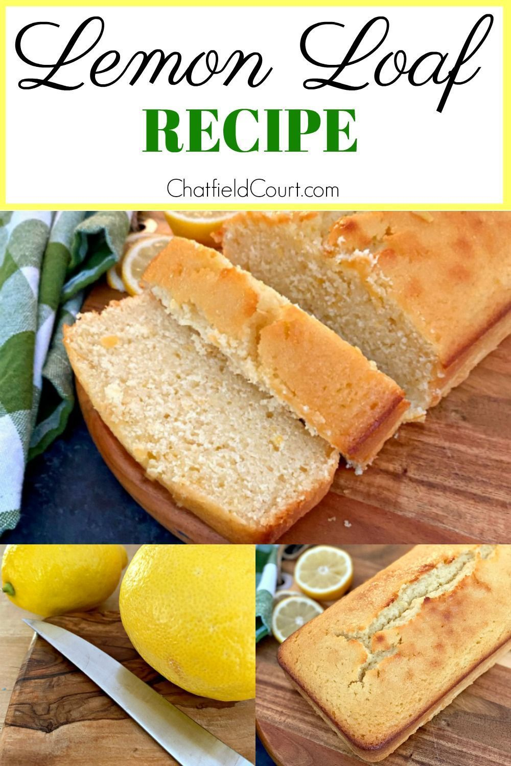 Easy lemon bread recipe using fresh lemon juice and lemon zest. A soft and moist cake that is delicious with or without lemon glaze.