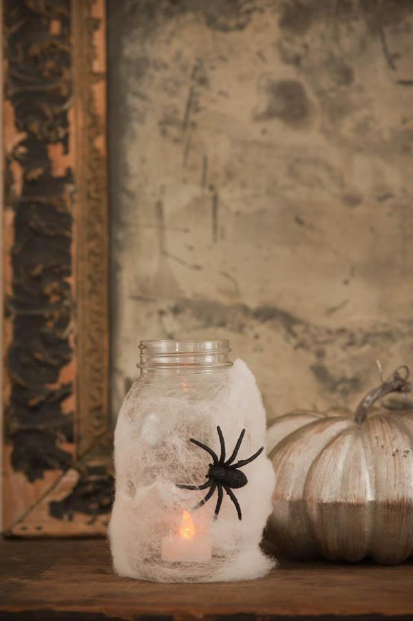 DIY Halloween  DIY Halloween Spider Lanterns  DIY Halloween Decor - scary diy halloween decorations