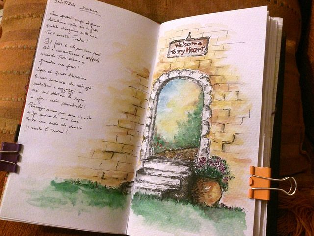 Art Journaling Of The Day In 2020 Watercolor Journal Art Of