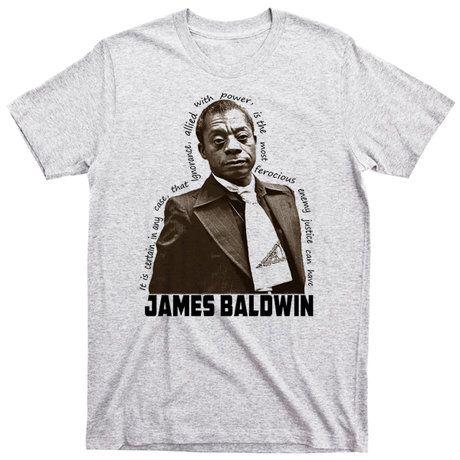 Photo of James Baldwin Black History Month Legend T-Shirt Nelson Mandela Angela Davis Melanin Pride Huey P Newton Marcus Garvey Angela Davis Panther Malcolm X II