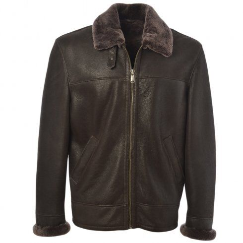 Mens Ashwood Hunter Mouse Cotton- Sheepskin Flying Jacket | Mens ...
