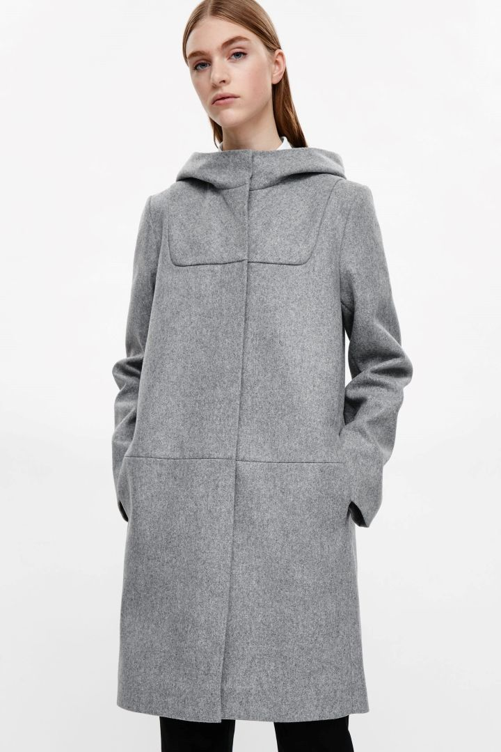 COS image 2 of Wool duffle coat in Grey | My Style (only for me ...