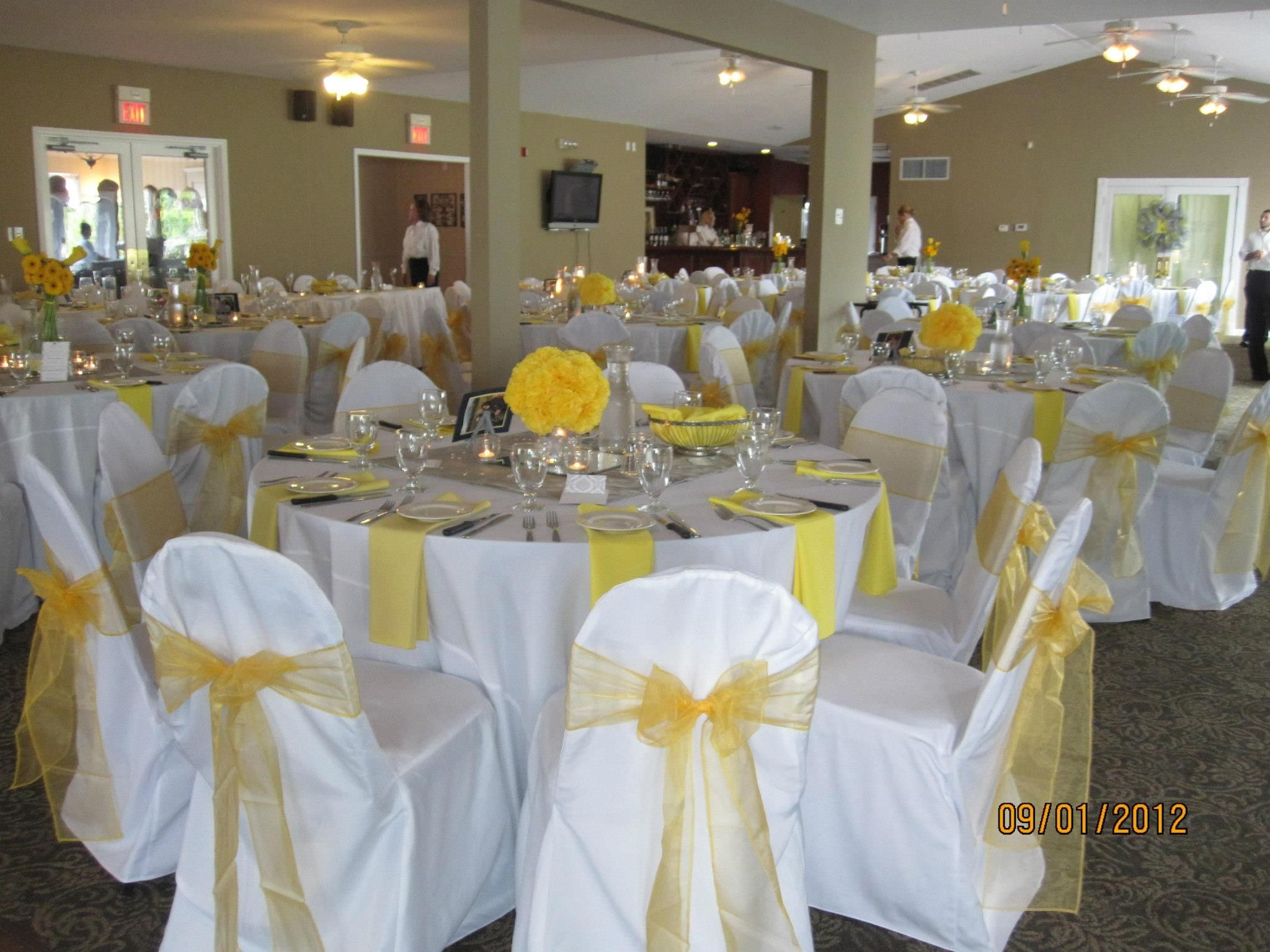 yellow and white wedding reception ideas event planners