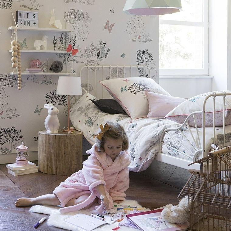 Housse De Couette Louise Carre Blanc Kids Bedroom Bedroom Kids