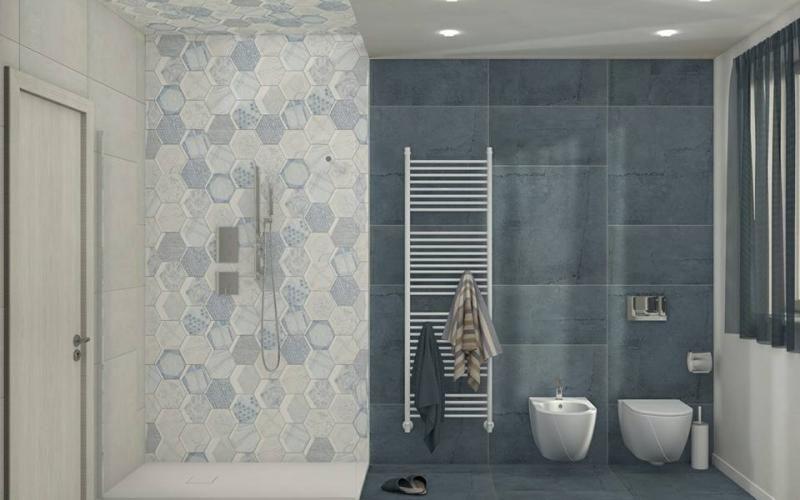 Bagno In Stile Mediterraneo Bagno Blu Idee Bagno Blu Arredamento Piccolo Bagno
