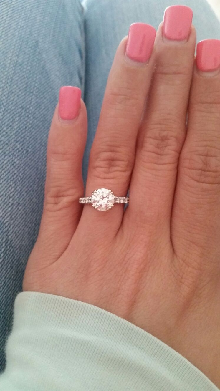 show me your 10 15 20 carat rings on size 4 45 finger - Size 4 Wedding Rings