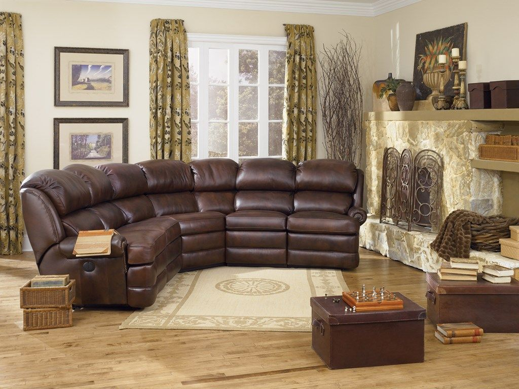 Smith Brothers Living Room Power Reclining Leather