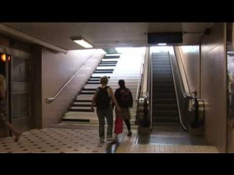 The fun factor - musical stairs. This video shows how people rarely used the stairs until the piano steps were installed. After installation, practically no one uses the escalator.