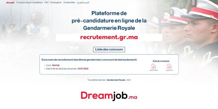 Gendarmerie Royale Le Journal: Concours de Recrutement ...